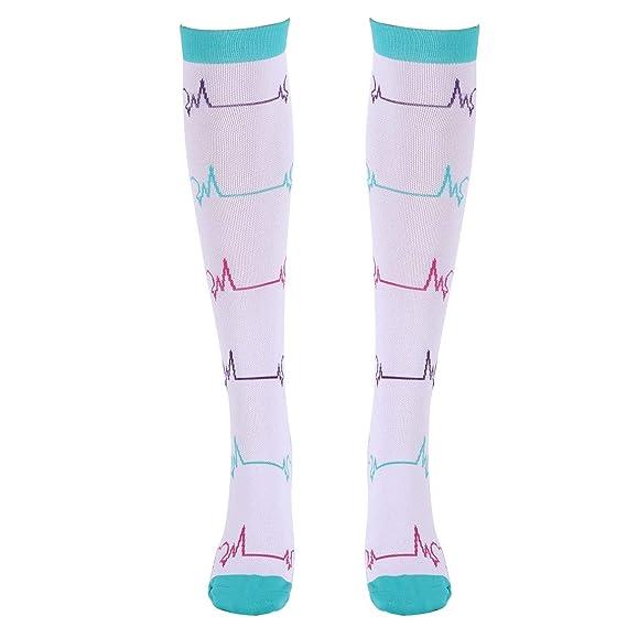 iiniim 1 Par Calcetines de Compresión Graduada Mujer Hombre Medias Running Crossfit Ropa Traje Deportivo Enfermera