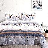 HOLY HOME Duvet Cover Set 3 Piece-Microfiber Bedclothes King Size 90''x104'' BOHO Vintage Dream Catcher White
