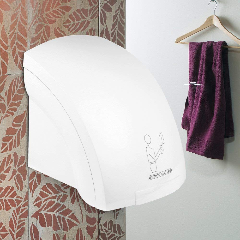 SSLine Automatic Hand Dryer Ultra-Quiet High Speed Hot Air Hand Blower with Infrared Sensor for Commercial/Hotel/Home Use
