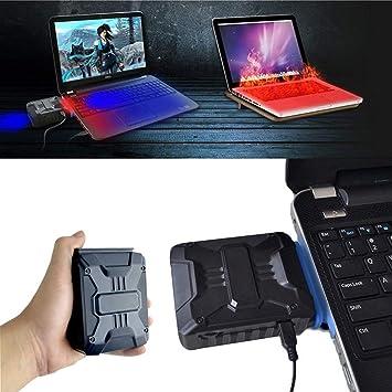 NAJUP Mini Ventilador de refrigeración de Escape para Ordenador portátil, con USB, Extractor de Aire, refrigerador de CPU para refrigeración de Equipos de ...