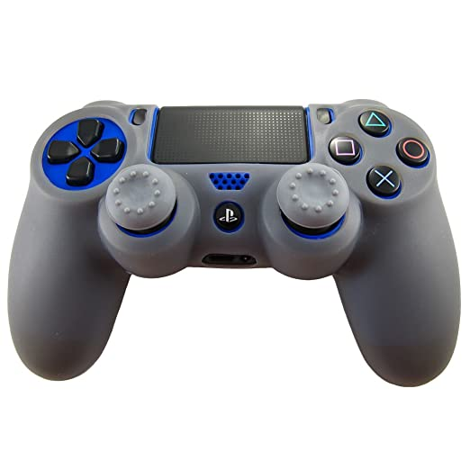 308 opinioni per Pandaren® Pelle cover skin per il PS4 controller(grigio) x 1 + pollice presa x 2