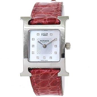 2257d41ba2 エルメス HERMES Hウォッチ HH1 210 レディース 腕時計 11P ダイヤ ホワイトシェル 文字盤 クォーツ ウォッチ