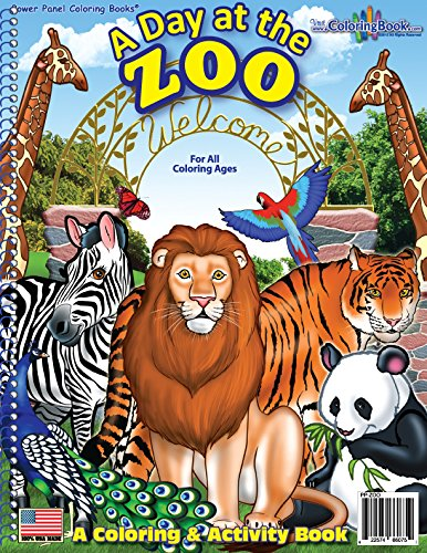 A Day At The Zoo Coloring Book Coloringbook Com Really Big