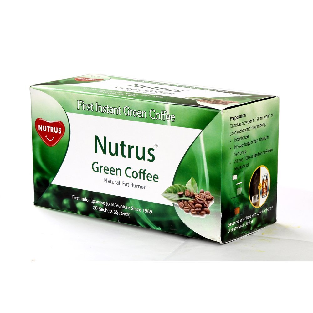 3 Boxes of NUTRUS Green Coffee 20 Sachets (Total 60 Sachets)High metabolism, good for digestion, herbal