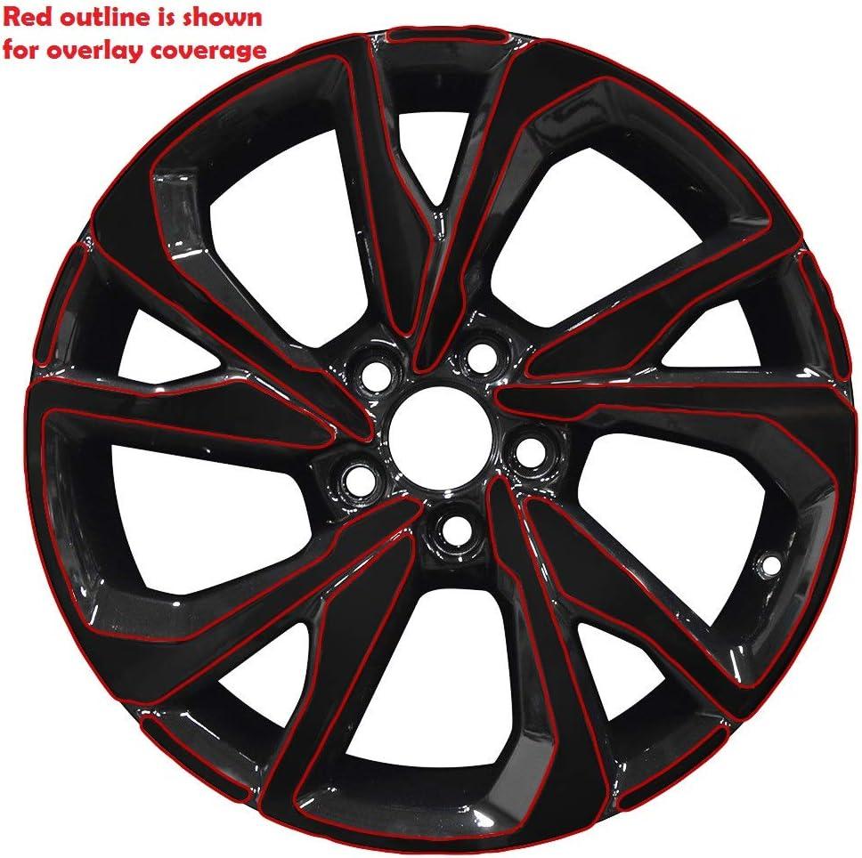 Chrome Delete Vinyl Kit Blackout Trim Overlays Compatible with 2016 2017 2018 2019 Honda Civic Sport Wheels Rims Chrome Trim Matte Black