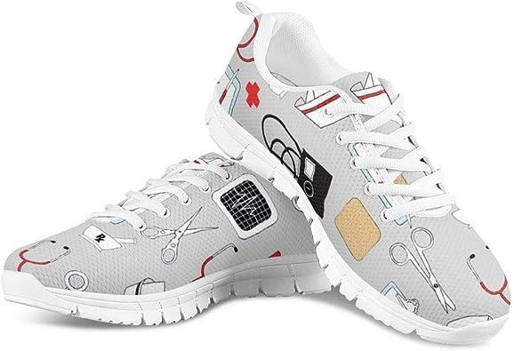 HUGS IDEA - Zapatillas deportivas ligeras para correr de carretera, diseño de dibujos animados, color Gris, talla 43 EU: Amazon.es: Zapatos y complementos