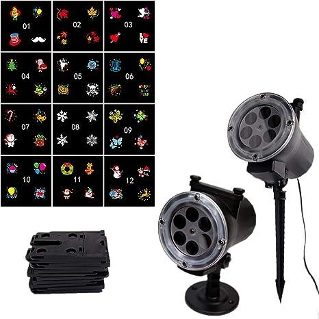 Proyector de Luces LED, proyector de luz LED Creativa con 12 ...
