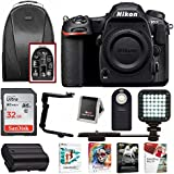 Nikon D500 DX-Format DSLR Camera (Body) + 32GB Card + Backpack + Software Bundle