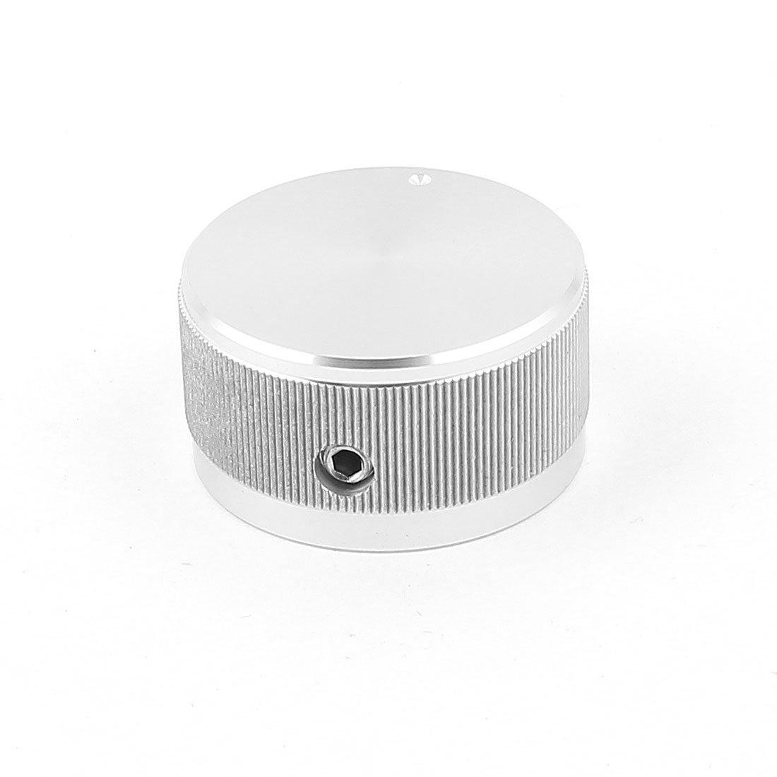 Aexit Silver Tone Security & Surveillance CNC Solid Aluminum HiFi Speaker Radio Volume Horns & Sirens Knobs 30x16mm