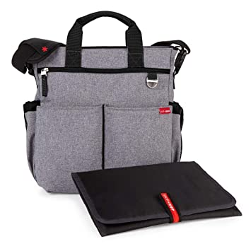 a6c0104080d20 Amazon.com : Skip Hop Messenger Diaper Bag with Matching Changing Pad, Duo  Signature, Heather Grey : Baby