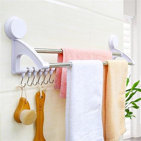 Rieles de stands estante estantería para baño toalla de baño ganchos baño Hardware anillos Sucker tres