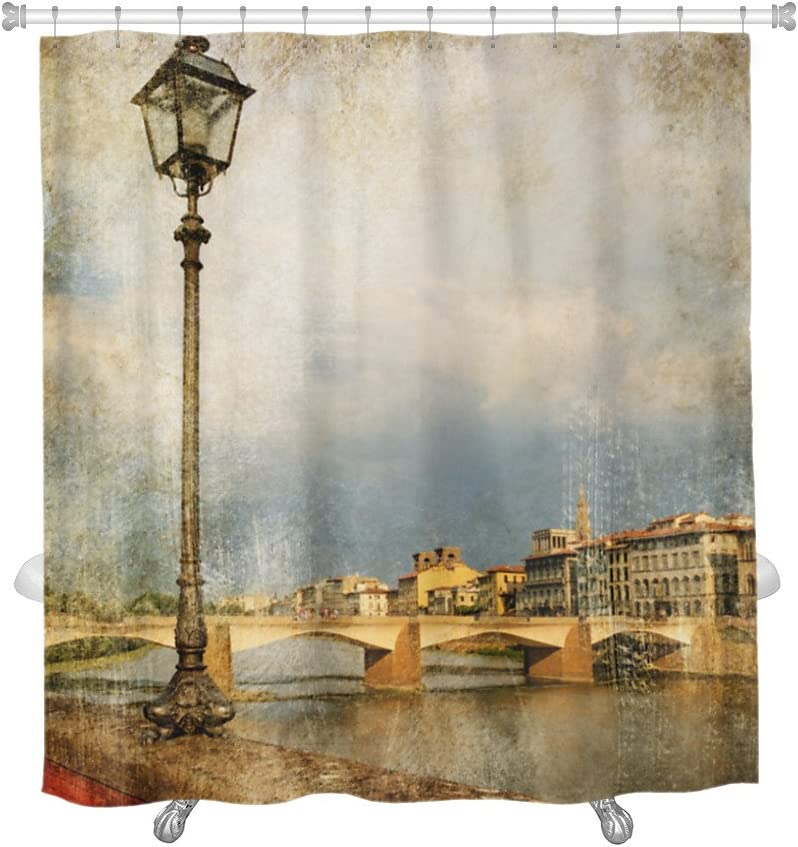 Gear New Pictures Of Italy Florence Artistic Retro Style Shower Curtain 74 X 71 Home Kitchen