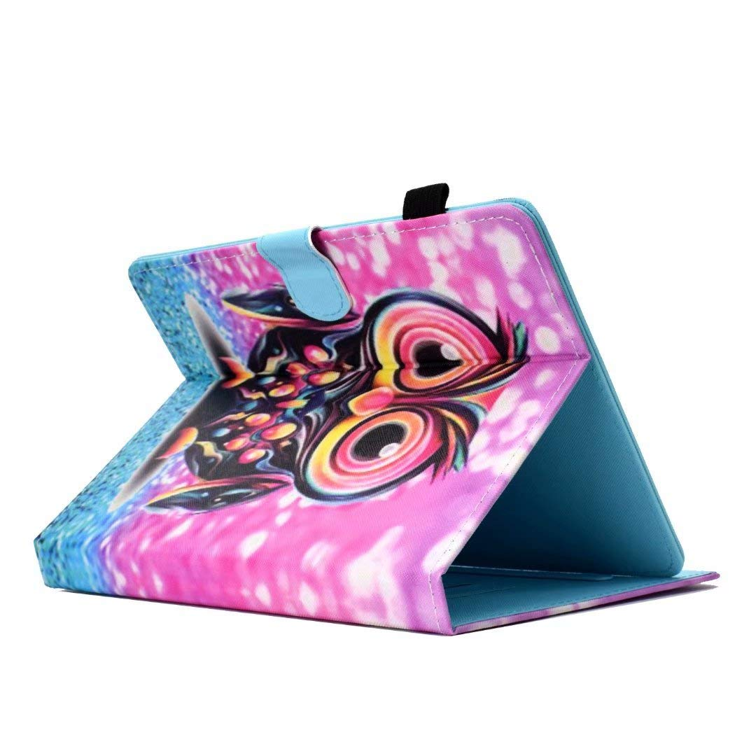 Galaxy Tab E 9.6//Tab A 10.1 Universal Case for 9-10.1 Tablet Magic Cat XX Leather Case Stand Cover with Card Slot for Huawei MediaPad T3//T5 10,iPad 2018 Lenovo Tab 4 10//TB-X103F