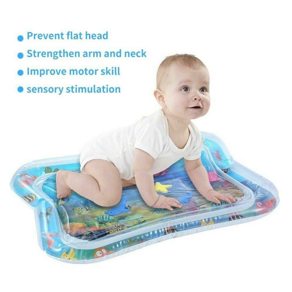 Majome Tapis de Jeu Gonflable gonflé de Coussin de Coussin de Tapis de bébé rempli par l'eau pour des Enfants