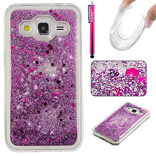 Ultra Sparkle - Galaxy G360 Case, Galaxy Core Prime Case, Firefish Thin Sparkle Flexible TPU Gel Silicone [Ultra Thin] [Scratch Resistances] Back Cover Shell for Samsung Galaxy Core Prime G360 -Purple