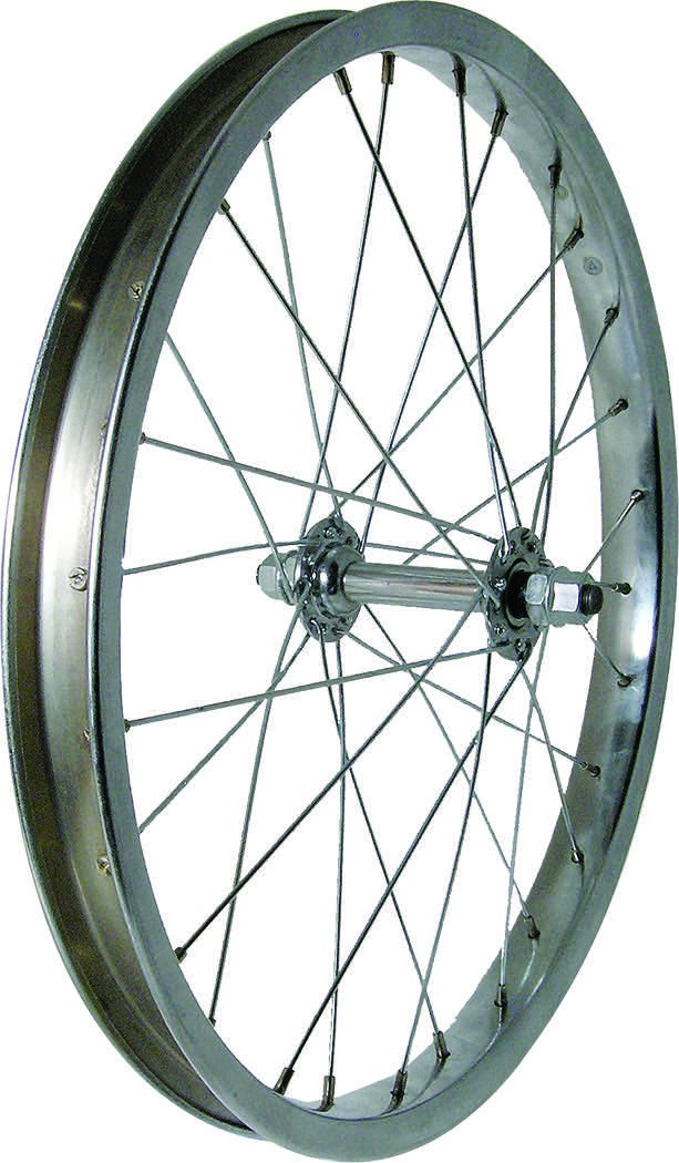 Wheel Steel 18'' Front Silver 5/16'' Axle