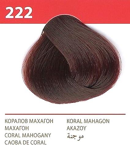 Vips prestige crema colorante para el cabello, color caoba de coral 222