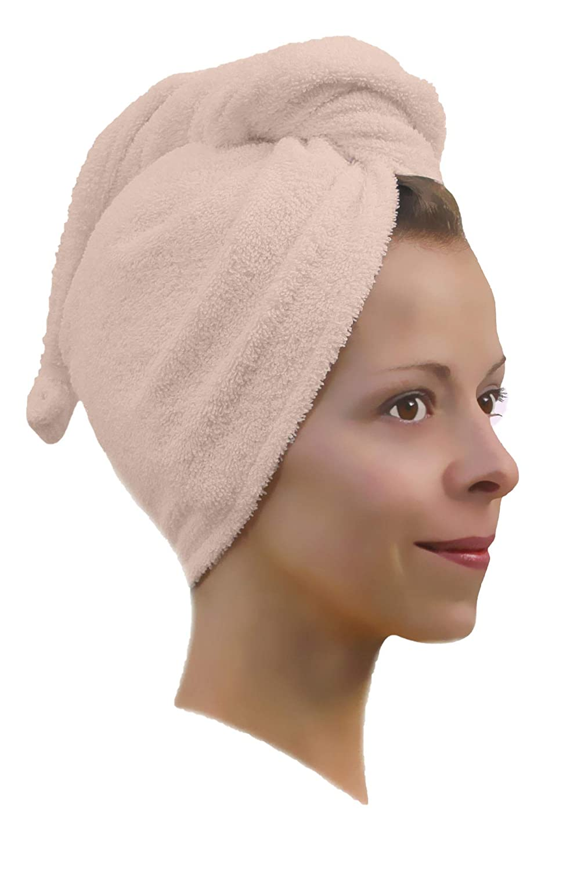 Antracite 1 x Haarpunzel Turbante Panno asciuga capelli Asciugamano Sciarpa testa