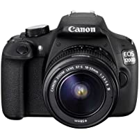 Canon EOS 1200D 18MP Digital SLR Camera (Black) + 18-55mm Lens + 55-250mm is II Lens + 8GB Memory Card + Carry Bag