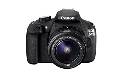 Canon EOS 1200D 18MP Digital SLR Camera (Black) with EF-S 18-55mm f/3 5-5 6  is II Lens, 8GB Card and Carry Bag