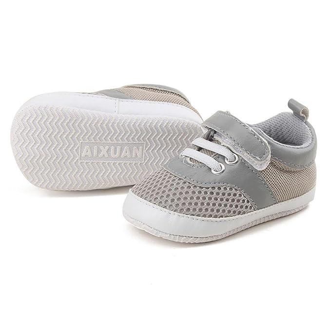 Tefamore Scarpe Da Neonato Infantile Scarpe Sportive Soft Sole Soft Mesh Sneaker (11, bianca)