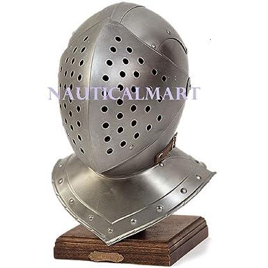 Amazon com: NAUTICALMART Great Bascinet - Knight Helmet