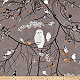 Art Gallery Fabrics Art Gallery Blithe Bird Songs Fabric by the Yard, Sun