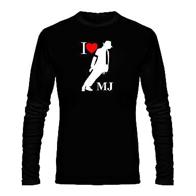 f3ca3ca814f ... Round Neck I Love Michael Jackson Design Graphics Printed 100% Cotton T  Shirt - I Love Michael Jackson Design Graphics Print T Shirt - Black Full  Hand ...