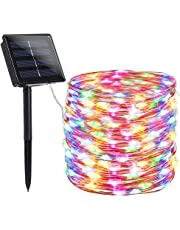 Komak LED Solar String Lights Outdoor 72ft 200 LED Solar Powered String Fairy Tree Light with 8 Lighting Modes,Waterproof,Indoor Lighting for Home,Garden,Decoration etc. (Multi-Colored)