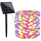 LED Solar String Lights Outdoor 72ft 200 LED Solar Powered String Fairy Tree Light with 8 Lighting Modes,Waterproof,Indoor Lighting for Home,Garden,Decoration etc. (Multi-Colored)