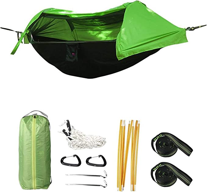 Hiking Backpacking-270 140CM Accod Outdoor Hammock Portable Hammock Ultralight Parachute Nylon Camping Hammock Maximum Carrying Weight 200KG Nylon Hammock Swing for Outdoor Indoor Garden