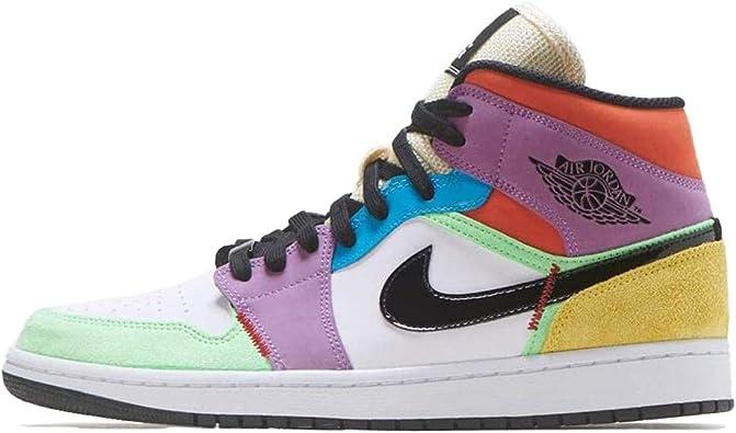 Jordan Nike Women S Shoes Air 1 Mid Se Light Club Cw1140 100 Basketball