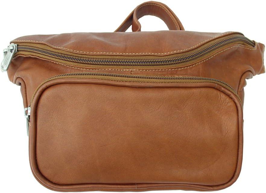 Piel Leather Large Classic Waist Bag, Saddle, One Size