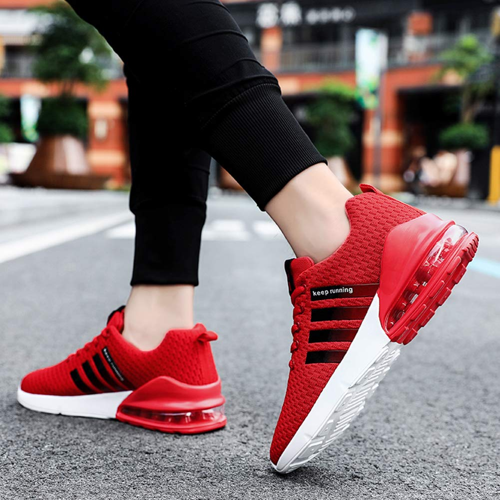 Men Breathable Mesh Sneakers Low Top Sport Running Shoes Ultralight Casual Walking Air Cushion Trainers