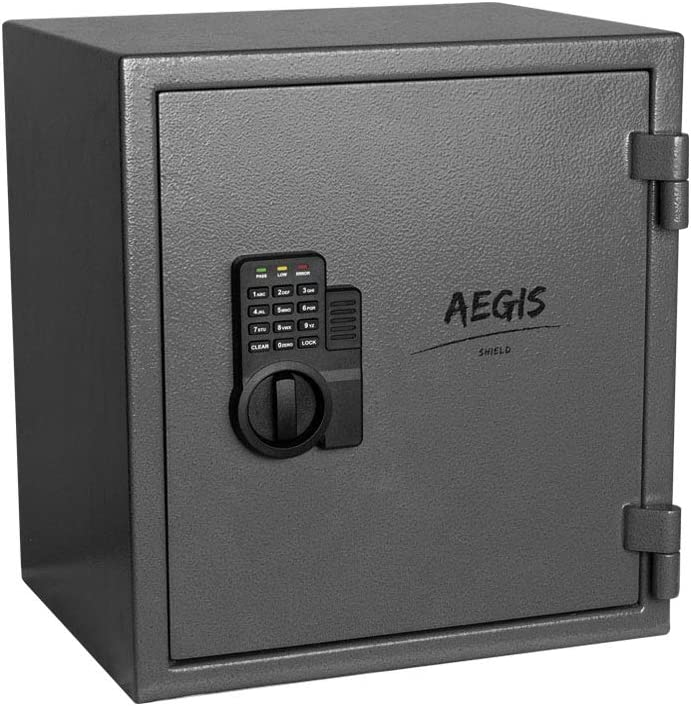 1.02 CF Fireproof Keypad Safe Electronic Security Digital Home Safe Box and Lock Box for Home Office Hotel Jewelry Hand Gun Passport Cash Money -AEGIS