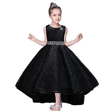 5eadeaa1a1 Amazon.com  ZaH Big Little Girl Pink Flower Girl Dresses  Clothing