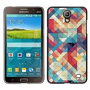 EJOY---Cubierta de la caja de protección para la piel dura ** Samsung Galaxy Mega 2 ** --Acolchado Teal Plaid Rojo Blanco