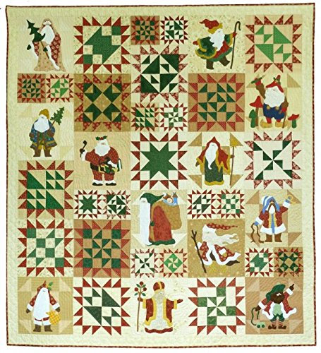 Classic Santas Christmas Sue Garmen Pieced Applique Come Quilt Pattern Set by Come Quilt