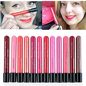Coosa 6 Colors Waterproof Long Lasting Matte Lip Gloss Lipstick Cosmetic