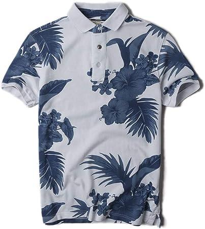 Fanuosu Camiseta de Verano para Hombre, Camisa Polo de los Hombres Impreso en Color Camisa de Golf de Manga Corta con Solapa de algodón for Hombre (Color : C1, tamaño : XL):