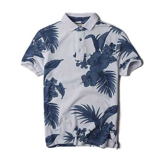 J-TUMIA-D Camiseta Casual para Hombre Camisa Polo de los Hombres ...