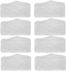 ITidyHome Replacement Washable Cleaning Pads for Shark Steam & Spray Mop SK410, SK435CO, SK460, SK140, SK141, S3101, S3250, S3251 (8 Pack)
