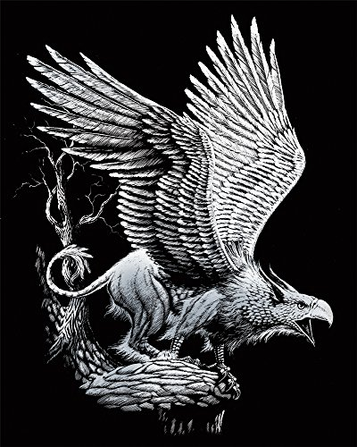 - ROYAL BRUSH Silver Foil Engraving Art Kit, 8 by 10-Inch, Screaming Griffin