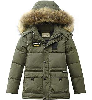 033f04f9b2a0d CXYP キッズダウンコート 冬 高品質 ダウン90% 男の子 フード付き 大きいファー ロング丈 ダウンジャケット 防寒 防風 中綿ジャケット  アウタ…