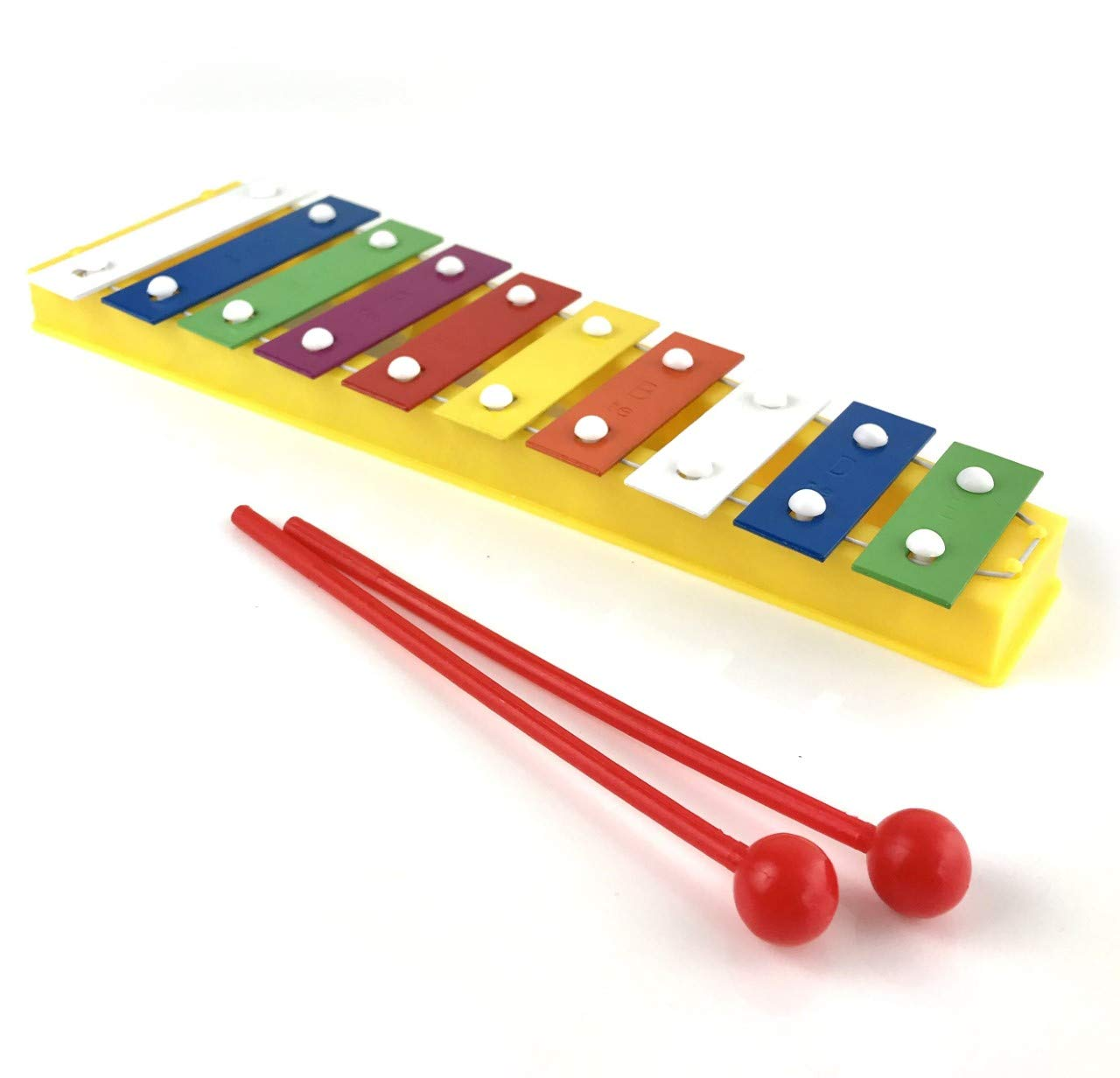 Colourful Childrens Toy Glockenspiel Xylophone with Free Beaters 1to1Music KidGlockV
