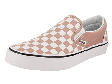 47f6262b8d6 Vans Unisex Checkerboard Slip-On Mahogany Rose True White Sneaker - 4