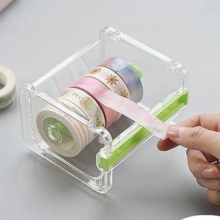 Eteng Washi Tape Dispenser Cinta Adhesiva Roll Organizador titular 2 piezas (verde): Amazon.es: Hogar