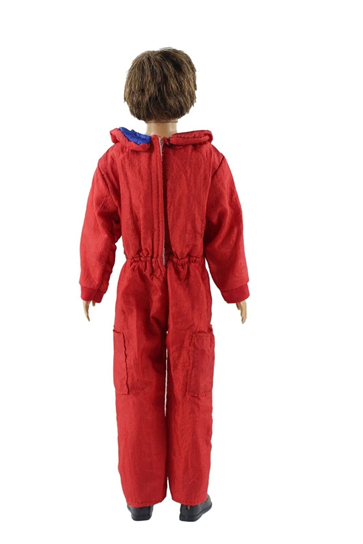 Amazon.com: Rojo Moda espacio traje trajes/ropa para muñeco ...