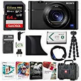 Sony DSC-RX100M5 Cyber-shot Digital Camera with AGR2 Grip and 64GB Card Bundle