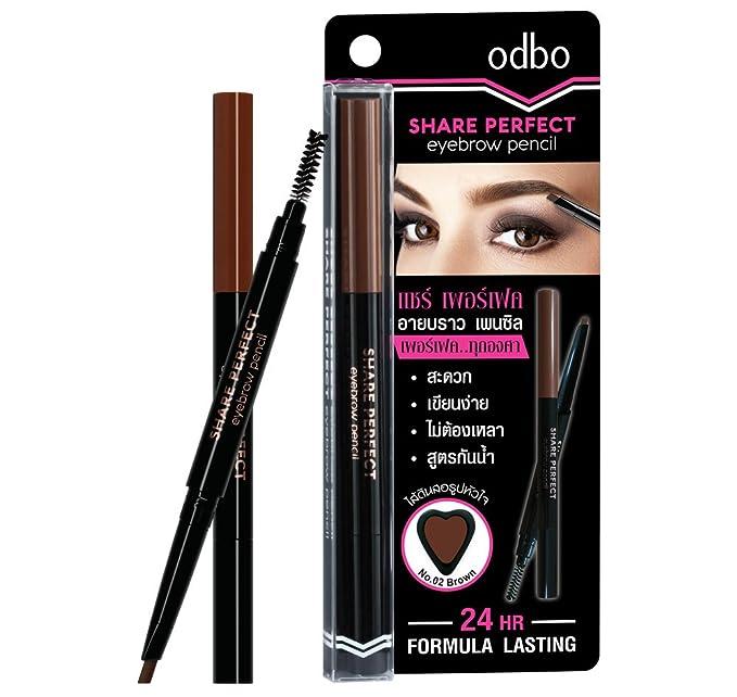 Buy Odbo Perfect 24 Hr Formula Lasting Eyebrow Pencil Brown Od749